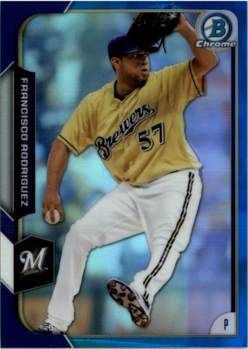 Photo of 2015 Bowman Chrome Blue Refractors #126 Francisco Rodriguez