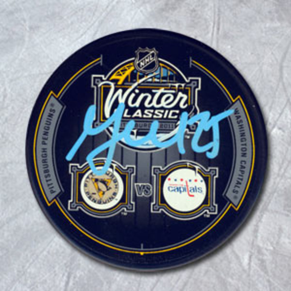 Maxime Talbot Pittsburgh Penguins Autographed 2011 Winter Classic Puck