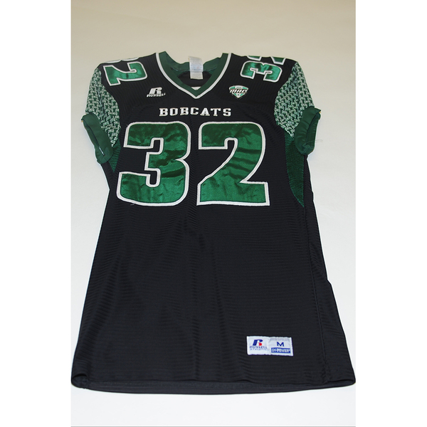 Photo of # 32 - Official OHIO BOBCATS Game Worn Football Jersey (2011) - SIZE MEDIUM