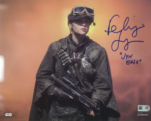 Felicity Jones as Jyn Erso 8x10 Autographed Inscribed