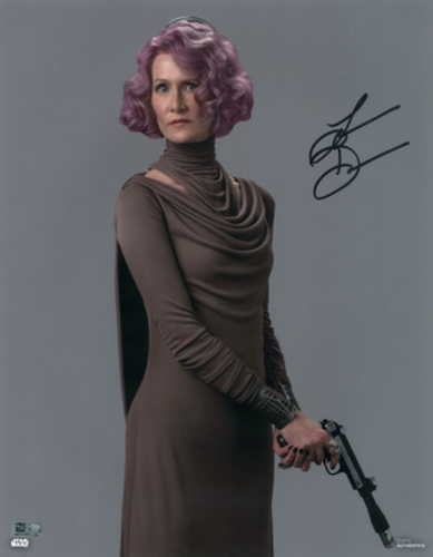 Laura Dern as Vice Admiral Holdo Autographed in Blck Ink 8x10 Photo