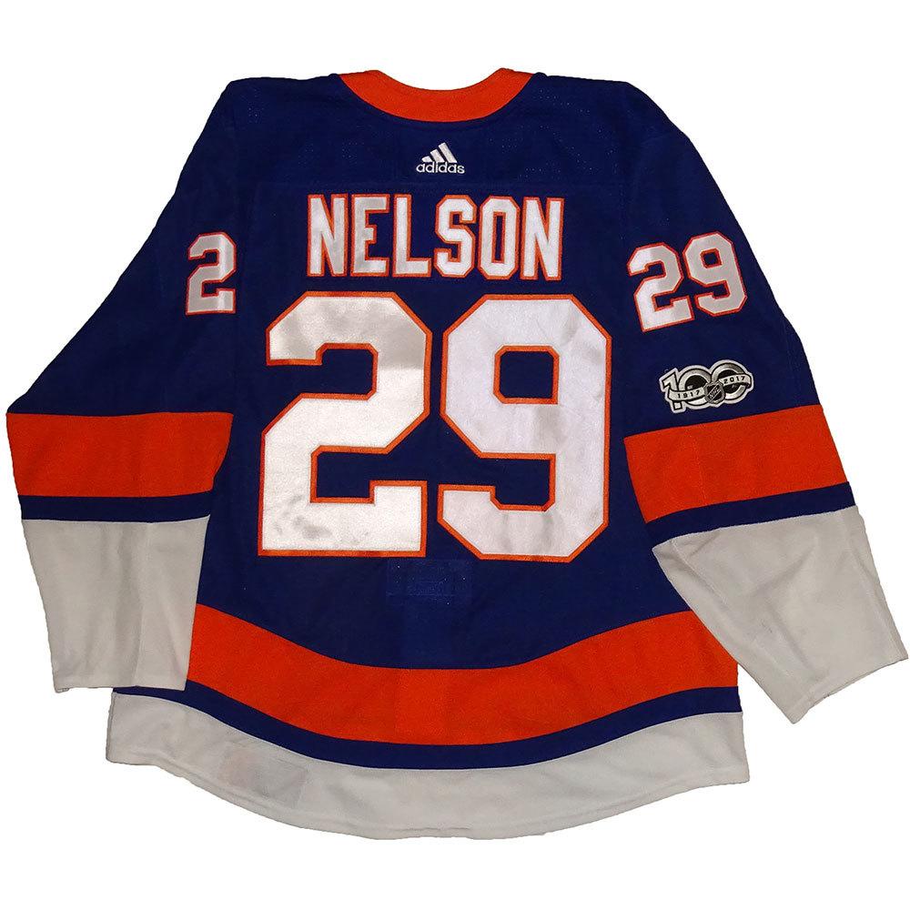 Brock Nelson - Game Worn Home Jersey - 2017-18 Season - New York Islanders