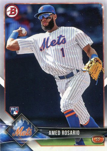 Photo of 2018 Bowman #34 Amed Rosario -- Rookie Card