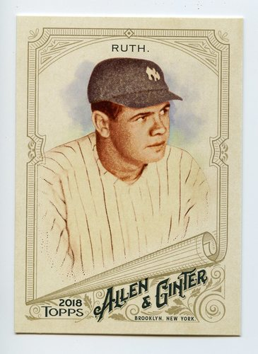 Photo of 2018 Topps Allen and Ginter #3 Babe Ruth