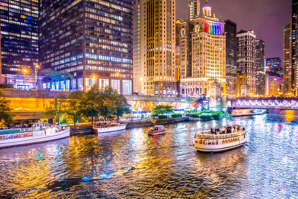 Clickable image to visit Romantic Chicago River Cruise and Dinner for Two