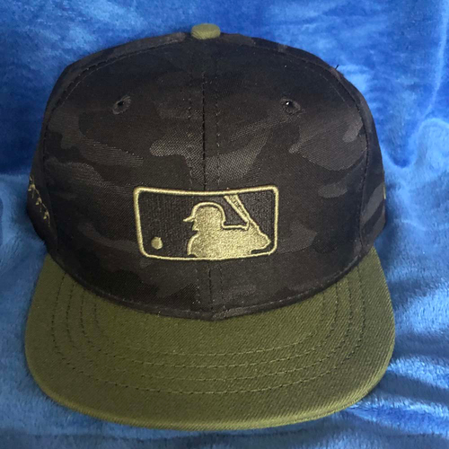 Photo of UMPS CARE AUCTION: MLB Specialty Black Camo Umpire Plate Cap, Size 7 1/8