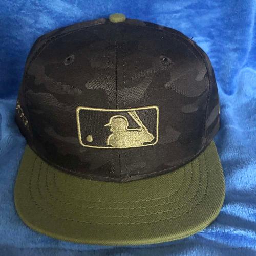 56a27f20d5ed5b UMPS CARE AUCTION: MLB Specialty Black Camo Umpire Plate Cap, Size 7 1/