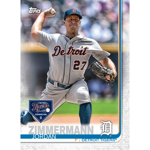 Photo of Autographs for a Cause: Jordan Zimmermann Autographed Limited Edition 2019 Topps Detroit Tigers Baseball Card