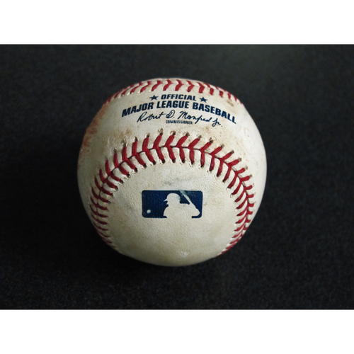 Game Used Baseball: Pitcher: Felix Hernandez, Batter: Albert Pujols (Double) - 4/1/19 vs. LAA