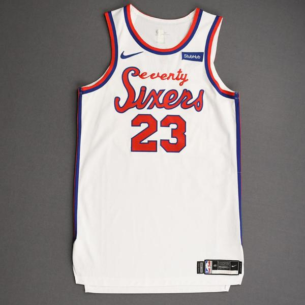 Image of Trey Burke - Philadelphia 76ers - Game-Worn Classic Edition 1970-71 Home Jersey - 2019-20 Season