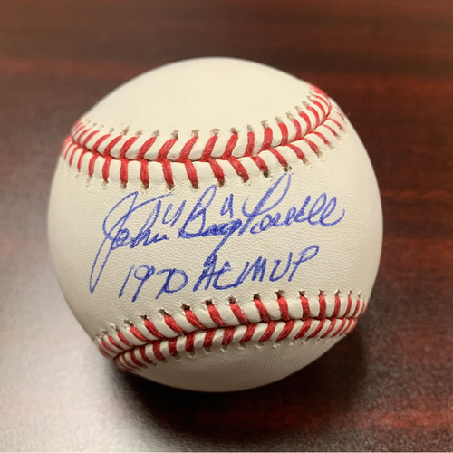 """Photo of John """"Boog"""" Powell Autographed Baseball - NOT MLB Authenticated - Certificate of Authenticity Included"""