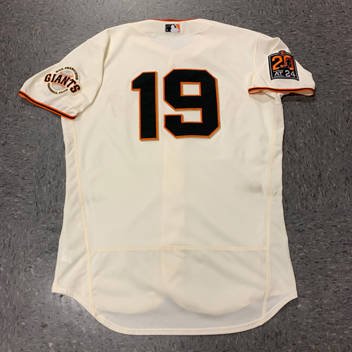 Photo of 2020 Game Used Home Jersey - #19 Gabe Kapler (Manager) - Game Used on 7/29 vs. SD (W - first win at home) and 8/2 vs. TEX - Size 46