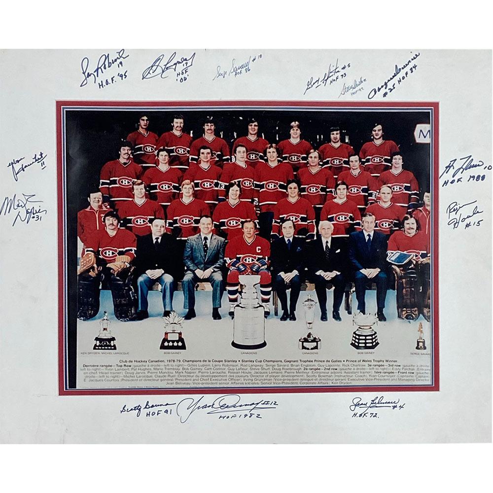 Montreal Canadiens Legends Autographed 16X20 Matted Photo - Beliveau, Lafleur, Robinson & More