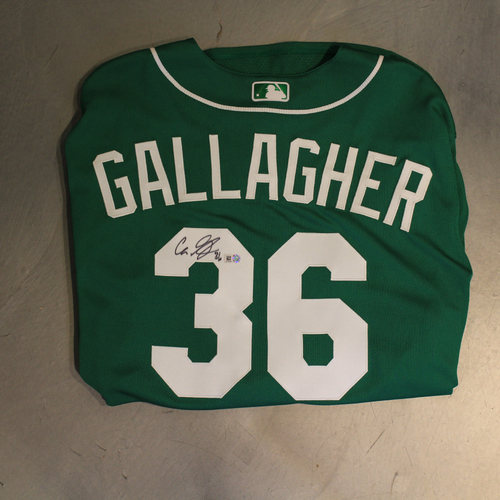 Photo of Autographed 2020 St. Patrick's Day Jersey: Cam Gallagher #36 (Size 48)