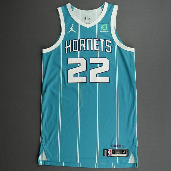 Image of Vernon Carey Jr. - Charlotte Hornets - Game-Worn Icon Edition Jersey - Dressed, Did Not Play (DNP)
