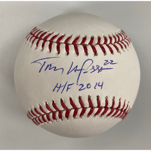 Photo of Tony LaRussa Autographed Baseball with HOF Inscription