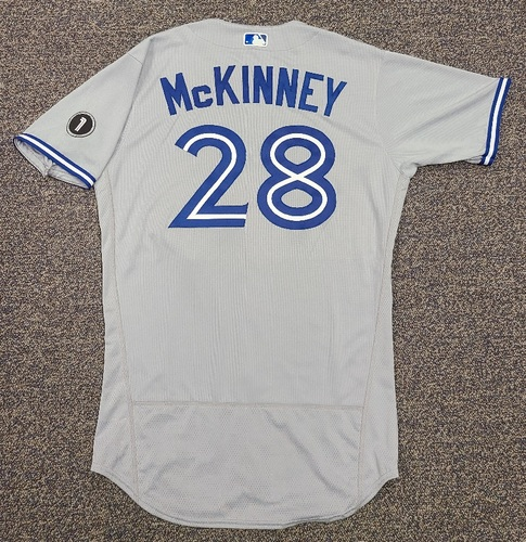 Photo of Authenticated Team Issued Jersey: #28 Billy McKinney (2020 Season). Set 2. Size 44.