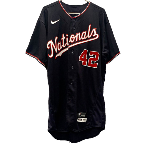 Photo of Patrick Corbin - Jackie Robinson Day Autographed Game Worn Jersey - Size 46T