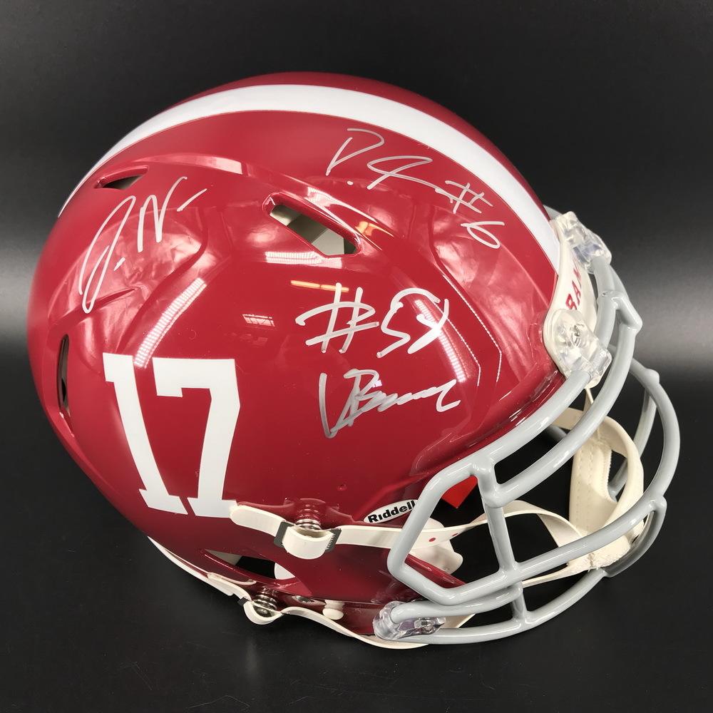 NFL - Alabama Authentic Speed Helmet Signed by DeVonta Smith, Mac Jones, Jaylen Waddle, Patrick Surtain II, and Christian Barmore