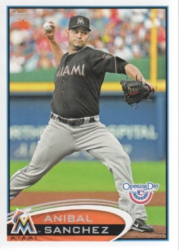 Photo of 2012 Topps Opening Day #32 Anibal Sanchez