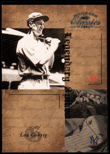 Photo of 2004 Donruss Classics Legendary Spikes #50 Lou Gehrig