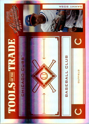 Photo of 2004 Absolute Memorabilia Tools of the Trade Red Spectrum #133 Sammy Sosa A