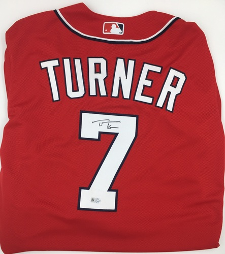 Photo of Trea Turner Autographed Authentic Nationals Jersey - Red