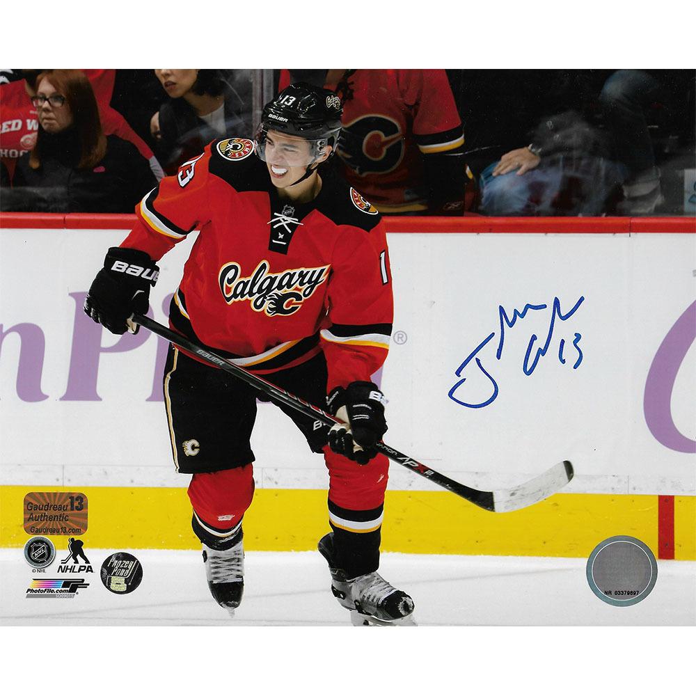 Johnny Gaudreau Autographed Calgary Flames 8X10 Photo