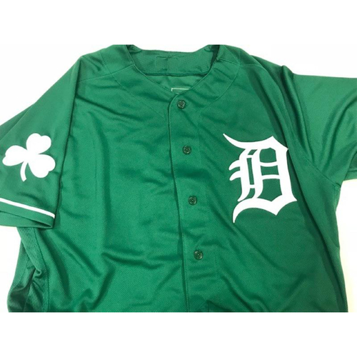 Photo of Team-Issued St. Patrick's Day Jersey: Jose Iglesias