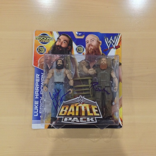 The Wyatts SIGNED Battle Pack Figures