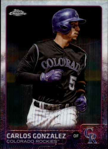 Photo of 2015 Topps Chrome #11 Carlos Gonzalez