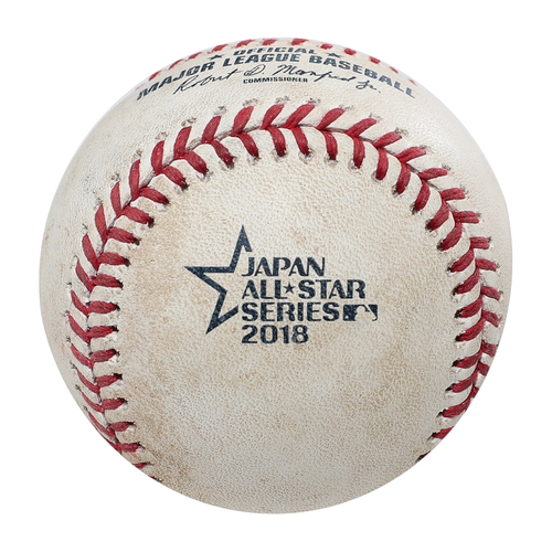 Photo of 2018 Japan Series Game-Used Baseball - Batter: Tomoya Mori, Pitcher: Collin McHugh - Single, Bottom 8th