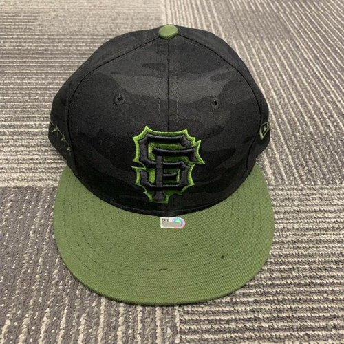 Photo of End of Year Auction - 2018 Game Used Cap - Memorial Day - size 7 3/8 - worn by #54 Reyes Moronta