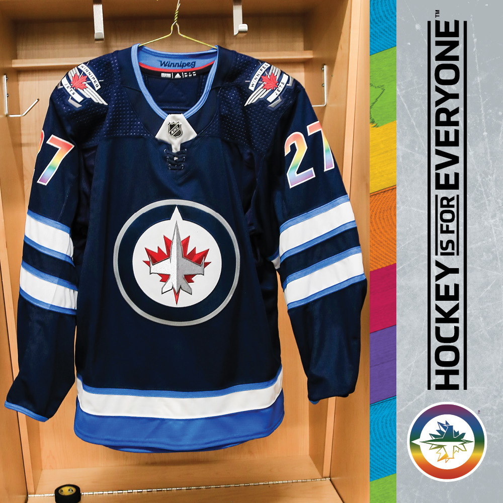 new product 7ba36 91a8a NIKOLAJ EHLERS Warm Up Issued You Can Play Jersey - NHL Auctions