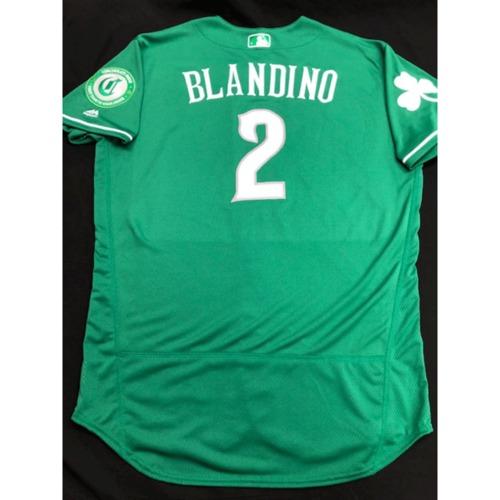 Photo of Alex Blandino -- Team-Issued Jersey -- 2019 St. Patrick's Day