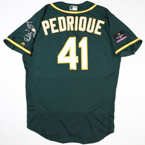 Photo of 2019 Japan Opening Day Series - Game Used Jersey - Al Pedrique, Oakland Athletics at Nippon Ham Fighters -3/17/2019