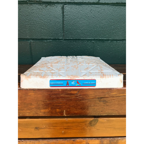 Photo of Cardinals Authentics: Game Used 2nd Base from June 22nd, 2019 Cardinals vs. Angels Innings 1-3