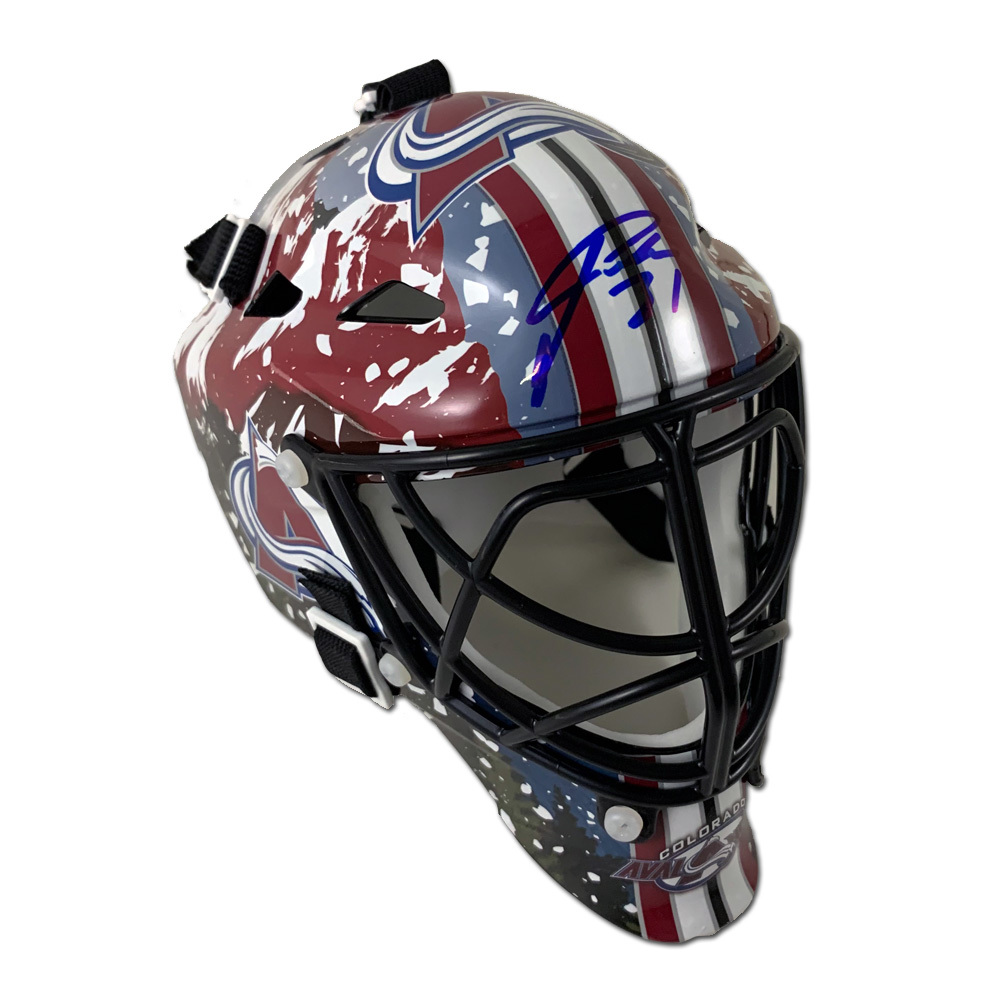 PHILIPP GRUBAUER Signed Colorado Avalanche Mini Mask