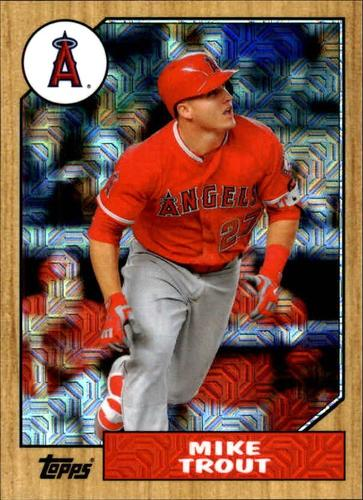 Photo of 2017 Topps '87 Topps Silver Pack Chrome #87MT Mike Trout