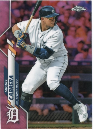 Photo of 2020 Topps Chrome Pink Refractors #6 Miguel Cabrera