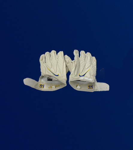 Photo of Aaron Donald Game Used Gloves - (10/11/2020 VS. Washington Football Team)