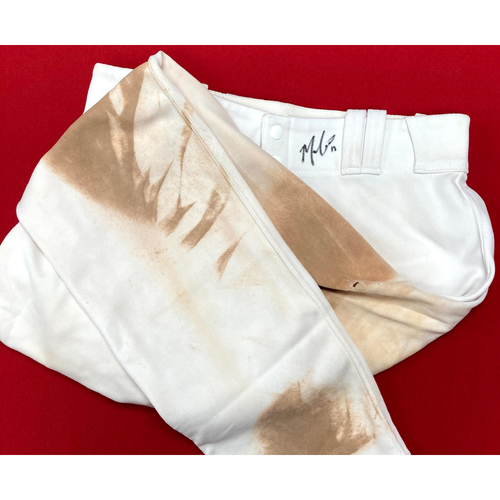 Photo of Matt Carpenter Autographed Team Issued Home Pants