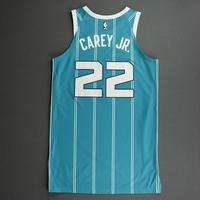 Vernon Carey Jr. - Charlotte Hornets - Game-Worn Icon Edition Jersey - Dressed, Did Not Play (DNP)