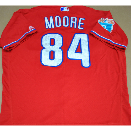Photo of Game-Used 2016 Spring Training Jersey - Logan Moore - Size 48 - Philadelphia Phillies