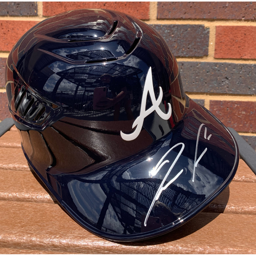 Photo of Ronald Acuna Jr. MLB Authenticated and Autographed Navy Helmet