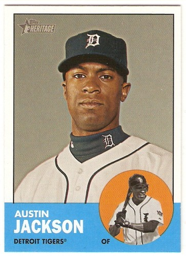 Photo of 2012 Topps Heritage #164A Austin Jackson