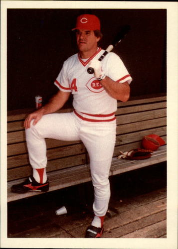 Photo of 1985 Topps Rose #45 Pete Rose/Run to first on walks