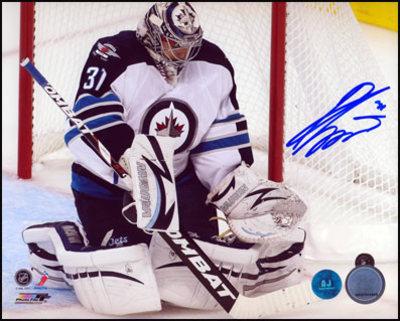 ONDREJ PAVELEC Winnipeg Jets SIGNED 16x20 Return to the NHL Photo