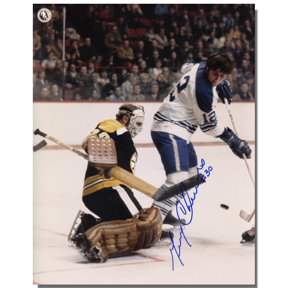 Gerry Cheevers Autographed Boston Bruins 8x10 Photo
