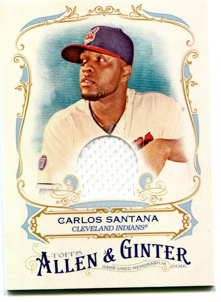 2016 Topps Allen and Ginter Relics jersey Carlos Santana